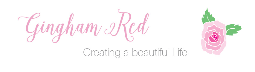 Gingham Red -