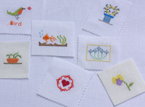 12 quick and easy cross stitch charts